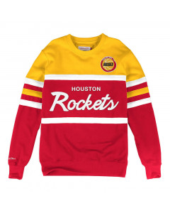 Houston Rockets Mitchell & Ness Head Coach Crew Pullover