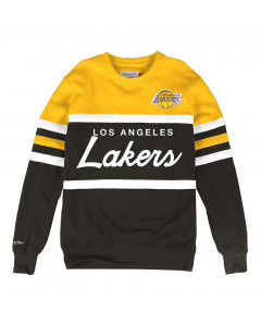 Los Angeles Lakers Mitchell & Ness Head Coach Crew Pullover