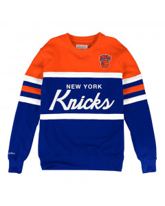 New York Knicks Mitchell & Ness Head Coach Crew Pullover