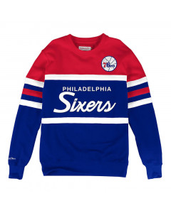 Philadelphia 76ers Mitchell & Ness Head Coach Crew pulover