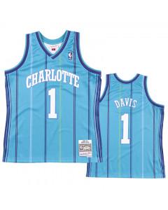 Baron Davis 1 Charlotte Hornets 1999-00 Mitchell & Ness Road Swingman dres