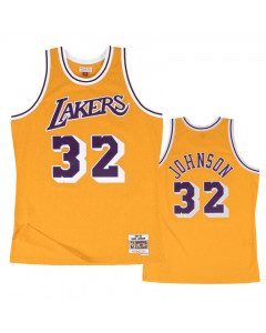 Magic Johnson 32 Los Angeles Lakers 1984-85 Mitchell & Ness Home Swingman dres