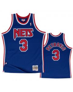 Dražen Petrović 3 New Jersey Nets 1992-93 Mitchell & Ness Road Swingman Trikot