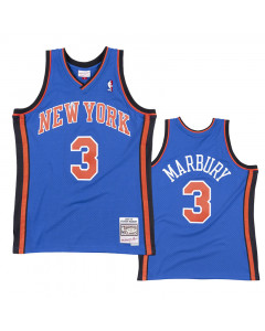 Stephon Marbury 3 New York Knicks 2005-06 Mitchell & Ness Road Swingman Trikot