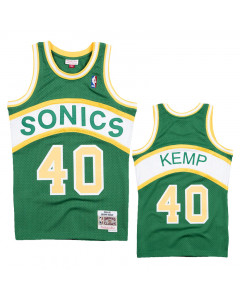 Shawn Kemp 40 Seattle Supersonics 1994-95 Mitchell & Ness Road Swingman dres