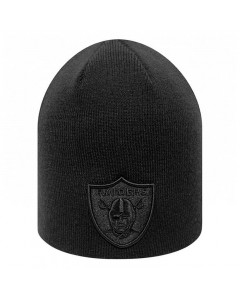 Oakland Raiders New Era Dark Base Skull Wintermütze