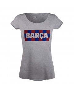 FC Barcelona Chess N°2 Damen T-Shirt grau