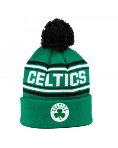 Boston Celtics Cuff Pom Youth Kinder Wintermütze 58-62 cm