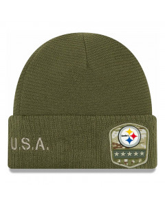 Pittsburgh Steelers New Era 2019 On-Field Salute to Service Wintermütze