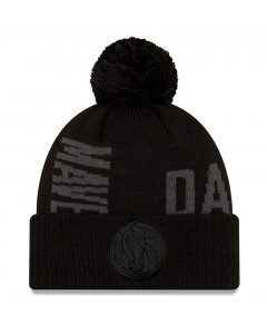 Dallas Mavericks New Era 2019 Tip Off Black Tonal Wintermütze
