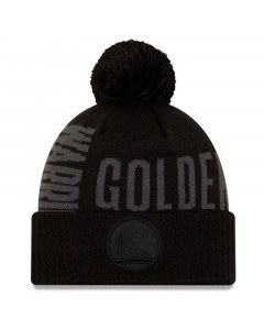 Golden State Warriors New Era 2019 Tip Off Black Tonal Wintermütze
