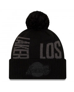 Los Angeles Lakers New Era 2019 Tip Off Black Tonal Wintermütze