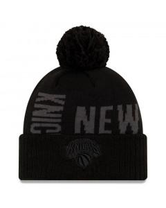 New York Knicks New Era 2019 Tip Off Black Tonal Wintermütze