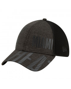Miami Heat New Era 39THIRTY Authentics Tip Off Black Tonal Mütze