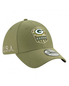 Green Bay Packers New Era 39THIRTY 2019 On-Field Salute to Service Mütze
