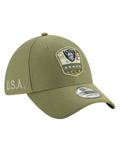 Oakland Raiders New Era 39THIRTY 2019 On-Field Salute to Service Mütze