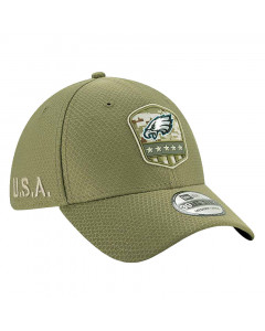 Philadelphia Eagles New Era 39THIRTY 2019 On-Field Salute to Service Mütze