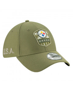 Pittsburgh Steelers New Era 39THIRTY 2019 On-Field Salute to Service Mütze
