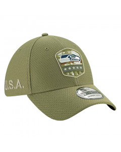 Seattle Seahawks New Era 39THIRTY 2019 On-Field Salute to Service Mütze
