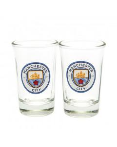 Manchester City 2x Schnapsglas