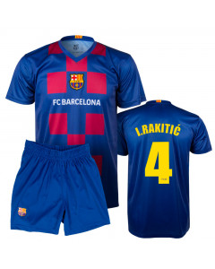 FC Barcelona Poly Kinder Training Komplet Trikot 2020 I.Rakitić