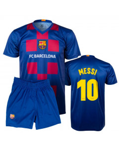 FC Barcelona Poly Kinder Training Trikot 2020 Messi Komplet Set