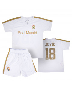 Real Madrid Poly Kinder Training Trikot 2020 Jović Komplet Set