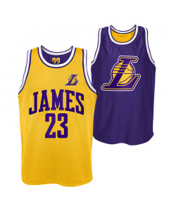 LeBron James 23 Los Angeles Pure Shooter Tank Trikot beidseitig tragbar