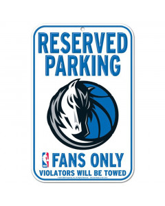"Dallas Mavericks tabla ""Reserved Parking"""