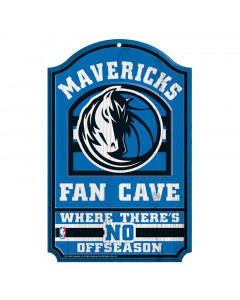 "Dallas Mavericks Holz Schild ""Fan Cave"""