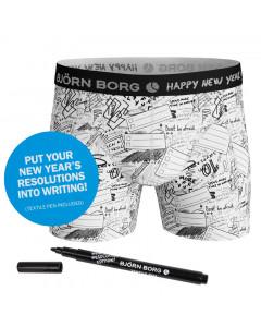 Björn Borg Sammy New Year Boxershorts (mit Textilmarker)