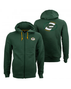Green Bay Packers Oversized Split Print Zip Thru duks sa kapuljačom