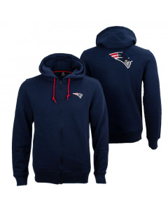 New England Patriots Oversized Split Print Zip Thru Kapuzenjacke