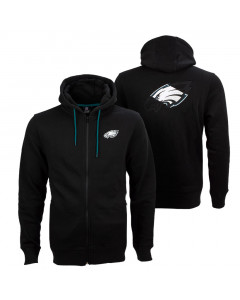 Philadelphia Eagles Oversized Split Print Zip Thru zip majica sa kapuljačom