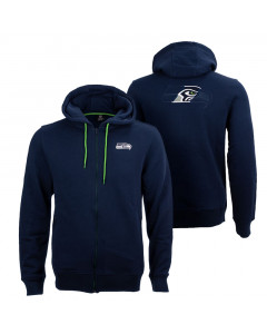 Seattle Seahawks Oversized Split Print Zip Thru Kapuzenjacke