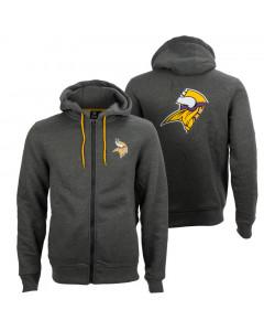 Minnesota Vikings Oversized Split Print Zip Thru zip majica sa kapuljačom