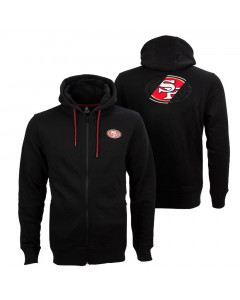 San Francisco 49ers Oversized Split Print Zip Thru Kapuzenjacke