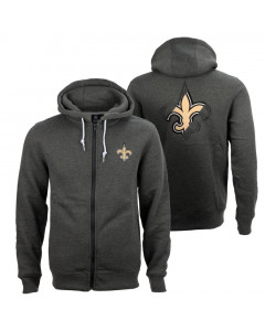 New Orleans Saints Oversized Split Print Zip Thru zip majica sa kapuljačom