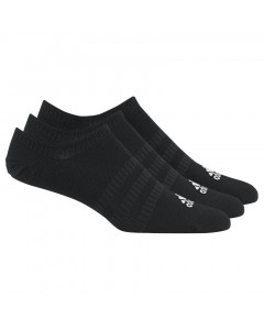 Adidas No-show 3x kurze Socken schwarz