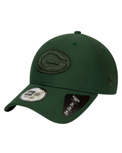 Green Bay Packers New Era 9FORTY Diamond Era Mono Black Mütze