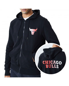 Chicago Bulls New Era Gradient Wordmark zip majica sa kapuljčom