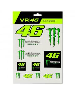Valentino Rossi VR46 Monster Dual Big Set nalepke