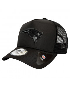 New England Patriots New Era Trucker A-Frame Tonal Black Mütze