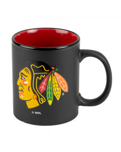 Chicago Blackhawks Black Matte Two Tone skodelica
