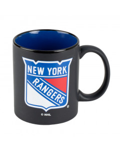 New York Rangers Black Matte Two Tone Tasse