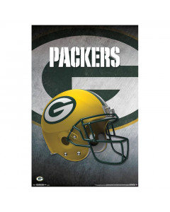 Green Bay Packers Team Helmet poster