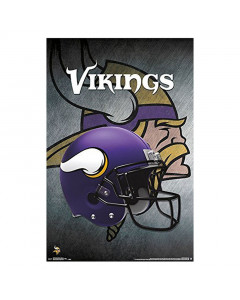 Minnesota Vikings Team Helmet Poster
