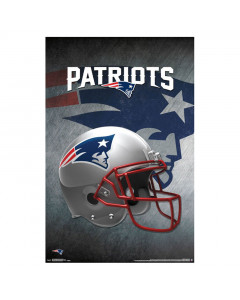 New England Patriots Team Helmet Poster