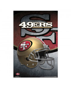 San Francisco 49ers Team Helmet Poster