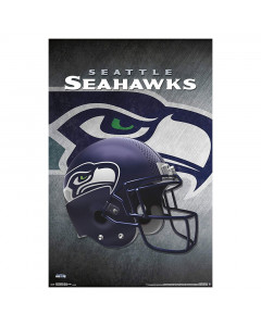 Seattle Seahawks Team Helmet Poster